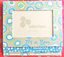 "3pc Baby Boy Cheers Picture Frame Set Cardboard Holds 4"" x 6"" Photo Precious NIP"
