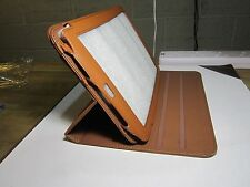 Brown PU Leather 360 Rotation Carry Case Stand Folder for Archos 101 G9