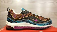 Nike Air Max 98 BHM Black Hot Punch Spirit Teal Fashion CD6090 001 Pick Size