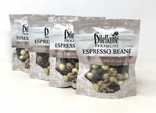 4-Pk Dilettante Mocha Cafe Espresso Beans In Milk, White & Dark Chocolate 5oz ea