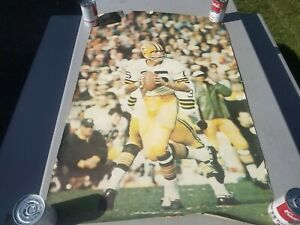 Vintage 1968 Sports Illustrated Bart Starr Green Bay Packers Poster