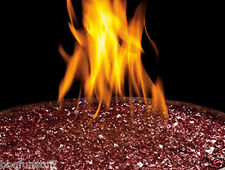 Gas Fireplace One Pound Red Glass Ember Media Kit MEGR New