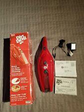 Dirt Devil Cordless Hand Vac vacuum easy lite quick flip tool BD10035RED New