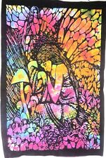 Tapestry Tie Dye Hippy Sleeping Angel Throw Wall Hanging Dorm Decor Small Poster