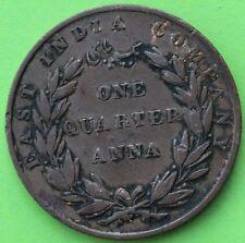 EAST INDIA COMPANY ONE QUARTER ANNA 1835