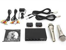 Karaoke Set Anlage  2 hochwertigen Metall Mikrofonen Anschluss DVD-Player und TV