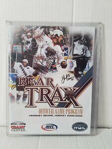Hershey Bears Autographed Bear Trax Program. 2005-06. Mike Green, Cassivi +more!