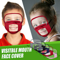 4PC Pack 8PC Filters Cartoon Kids Child Washable Reusable Face Mack with Filter and Detachable Eye Shield