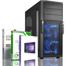 GAMING PC AMD RYZEN 3 2200G 4X3.7GHZ TURBO 120GB SSD 500GB HDD RECHNER KOMPLETT