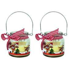 2 x Kerze im Glas Didi mit Duft Weihnachten Wichtelgeschenk Nikolaus Rentier Set