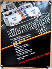 """org Porsche Plakat Poster """"1000 Km Nürburgring"""" 1980 Porsche 908 Barth Stommelen"""