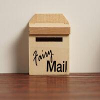 12.01 Holz Mailbox Mit Aufkleber Für Puppenhaus Miniatur Veranda Garten Dec L1J2