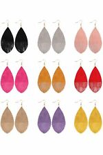 Grunge Tone Fringed Drop Leather Earrings ( Variety Color Available ) By DOBBI