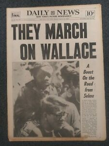 Selma March - Civil Rights - 1965 New York Daily News Newspaper