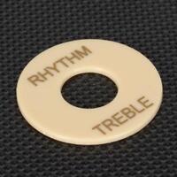 Rhythm Treble Switch Plate Part Durable Cream for Les Paul Guitar ABS Parts
