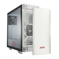 XPG Invader Mid-Tower Brushed Aluminum PC Case, 2x 120mm RGB Fans, White/Black