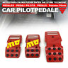 Red Universal Manual MT Racing Sport Truck Car Non-Slip Pedals Pad Cover Set