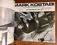 Two Signed Mark Kostabi Art Books, Scarce!