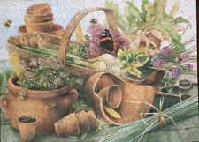 "Hallmark Cards Inc. Springbok 500-pc Puzzle ""Treasures From My Garden"" Complete"