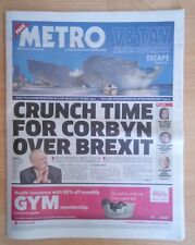Metro Newspaper - September 24 2018 - Labour Conference Anthony Joshua Bodyguard