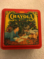 1992 Vintage CRAYOLA Collectible Christmas Holiday Crayon Storage Tin