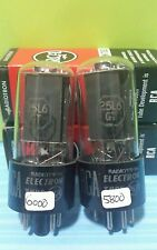2 Matching Date 1957  RCA 25L6 GT Vacuum Tubes  Tested New On Calibrated Hickok