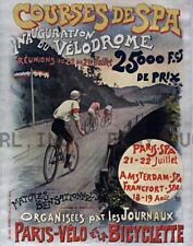 First Velodrome Bicycle race Paris - Spa ca 8 x 10 print prent poster