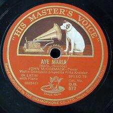 "78 RPM 12"" John McCormack Ave Maria/GLI ANGELI TI Guardia"