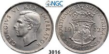 PegasusAuctions_com: 3016. South Africa, George VI, 2 1/2 Sh. 1942, NGC MS62