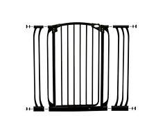 Bindaboo B1124 Hallway Pet Gate Swing Closed Black Extra-tall