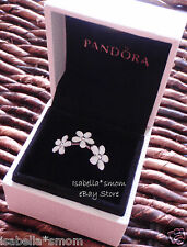 DARLING DAISIES Authentic PANDORA Silver/White ENAMEL Flowers RING Sz 5/50 NEW!