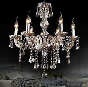 European 6 Arm Light Living Room/Restaurant Crystal Chandelier/Ceiling Lamp
