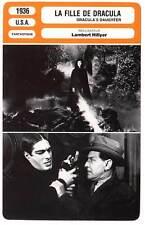 FICHE CINEMA : LA FILLE DE DRACULA - Kruger,Holden 1936 Dracula's Daughter