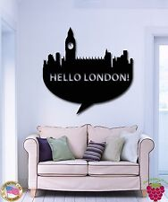 Wall Stickers Vinyl Decal Hello London Great Britain Europe Travel  (z1749)