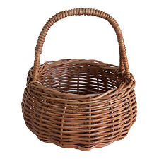 Traditional Rattan Wicker Egg Storage Display Easter Gift Basket