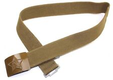 GENUINE SOVIET RUSSIAN ARMY CANVAS BELT WITH BROWN BUCKLE SIZE1