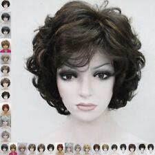 19 Color Corto Y Rizado Peluca Pelo Natural Mujeres Damas diario Cosplay Wigs
