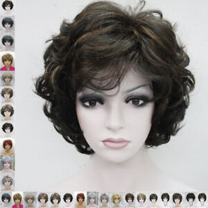19 Colour Short Curly Women Ladies Daily Natural hair wig cosplay wigs