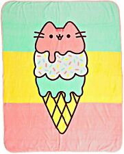 Pusheen Pastel Ice Cream Plush Throw Blanket