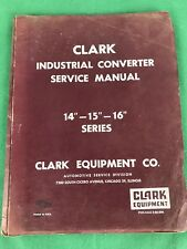 OEM, Clark Equipment Industrial Converter Service Manual 14
