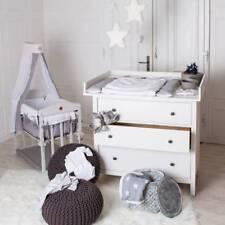 Puckdaddy  Plan à langer XXL pour IKEA Hemnes en blanc