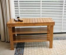 70 cm DI PRATI IN LEGNO BAMBOO scarpiera stand Sedile A Panchina solidwood Organizer