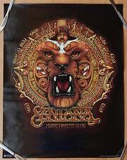 CARLOS SANTANA LION HEAD UNITY 22X28 POSTER MUSIC FROM THE HEART ORIGINAL NM