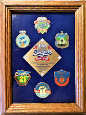 DODGERS 100 Anniversary 1890 - 1990 6 PINS Framed Limited Edition # 1173