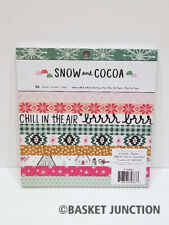 Crate Paper Snow and Cocoa 6x6 Paper Pad New