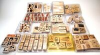 Huge Lot 117 Stamps STAMPIN' UP STAMP SETS Rubber Wood Mounted Fun family craft!