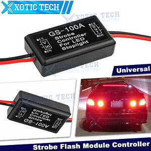 GS-100A Flash Strobe Controller Module Box Universal For LED Brake Tail Light