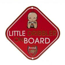 Arsenal FC Little Dribbler Car Window Sign Baby on Board Red Football Team