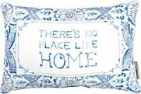 """Primitives by Kathy Boho Throw Pillow There's No Place Like Home 15"""" x 10"""" Blue"""