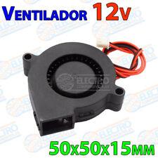 Ventilador Turbina 5015 12v Fan 50x50x15 impresora 3D cooler 50mm 15mm blower